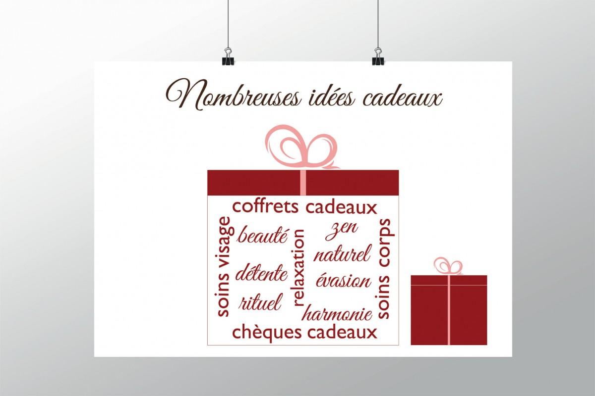 Offrez de la beaut affiche de no l pour institut de for Idee cadeau decoration interieure