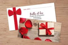Création de chèques cadeaux personnalisés
