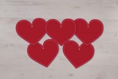 Lot de 5 petits mobiles cœurs