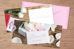 Chèques cadeaux fête des mères rose