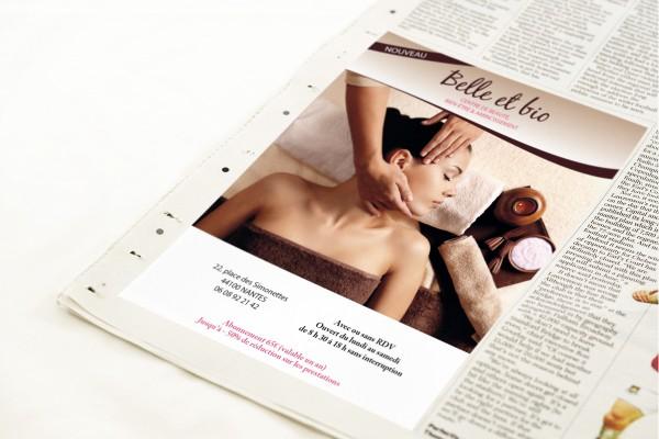 Encart presse publicitaire