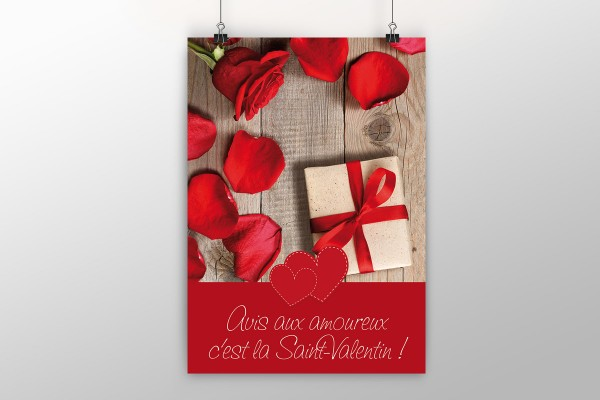 Affiche Saint-Valentin