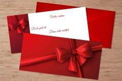 Chèques cadeaux nœud rouge