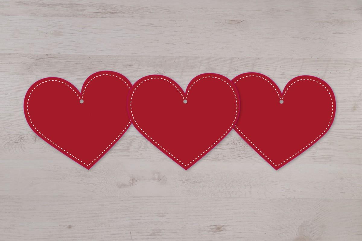 Lot de 3 petits mobiles cœurs