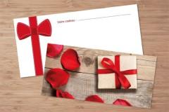 Chèques cadeaux motif romantique