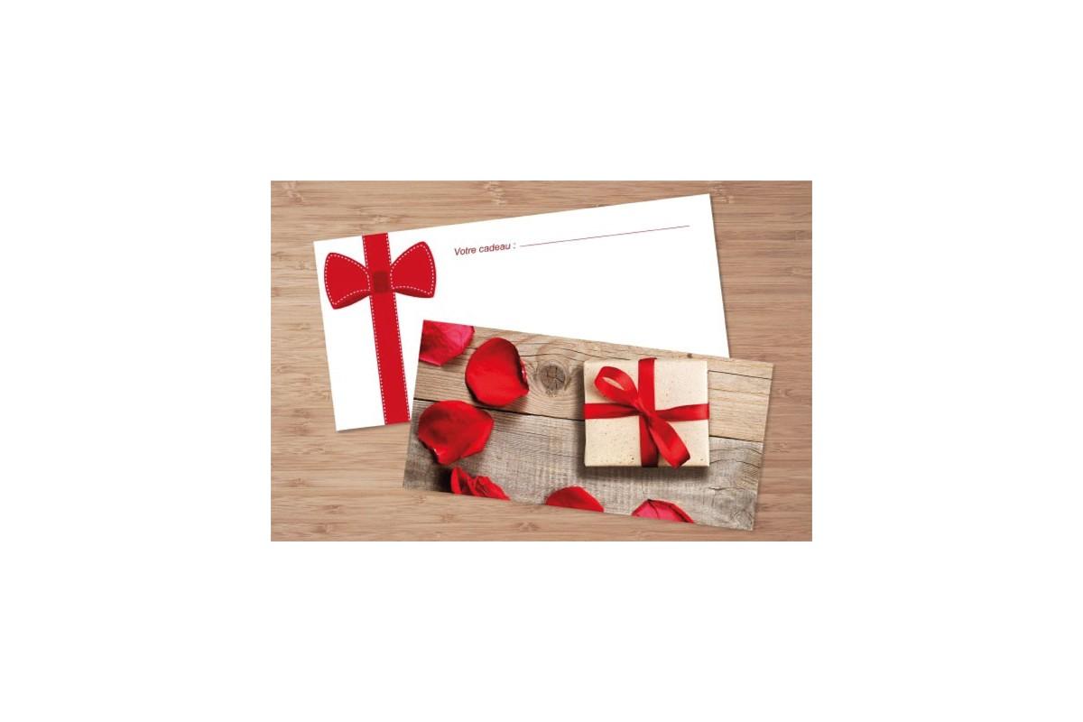 chèque cadeau motif romantique pour institut de beauté, esthétique à domicile, spa