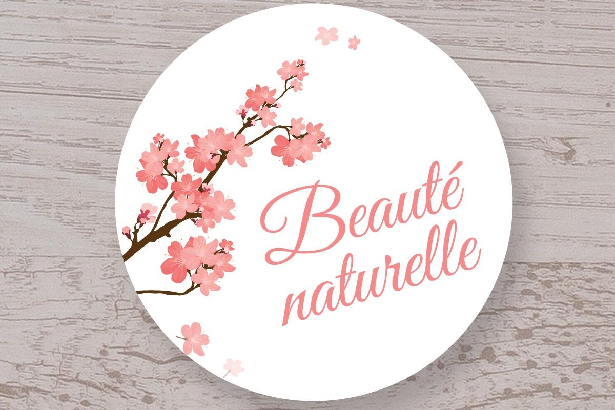 """Lot de 100 étiquettes """"Beauté naturelle"""""""